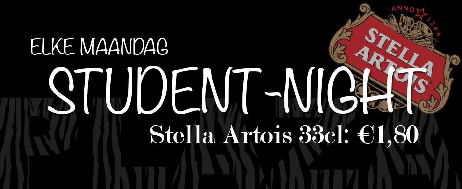 Elke maandag: Student Night