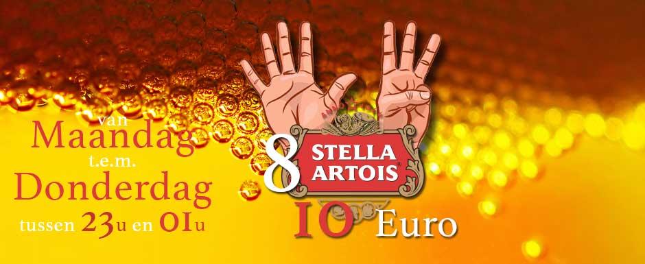 8 Stella's voor 10 Euro