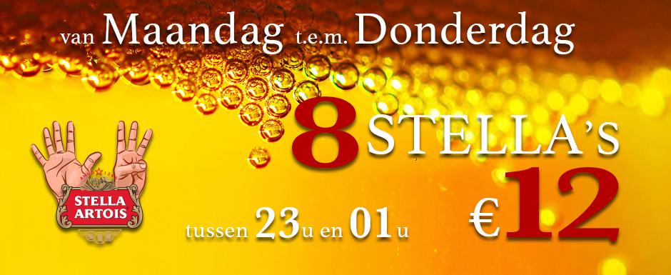 8 Stella's voor 12 Euro